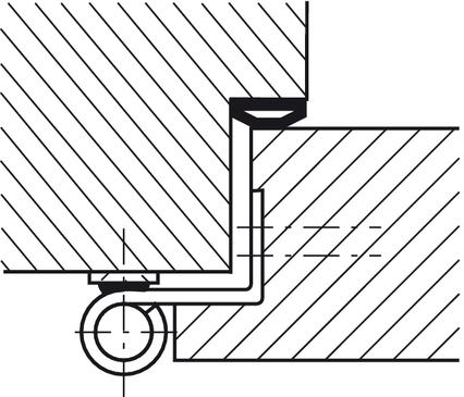 stiftpaumelle kozijndeel simonswerk v 8000 wf asr voor montage achteraf voor binnendeuren met. Black Bedroom Furniture Sets. Home Design Ideas