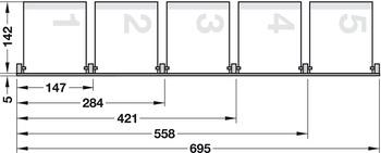 Hedendaags CD-opbergsysteem, voor cd's 90° gedraaid (hoog) – in de Häfele RH-38