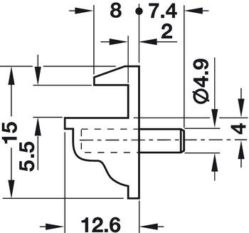 Wonderlijk Plankdrager, voor glazen schappen, om in boorgat-Ø 5 mm te steken WN-95