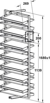 Schoenenkast 20 Paar.Uittreksysteem Voor Schoenenkast 180 Draaibaar Voor Maximaal 20